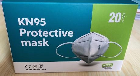 KN95 tai FFP2 hengityssuojain ilman vettiiliä 20 kappaleen pakkaus