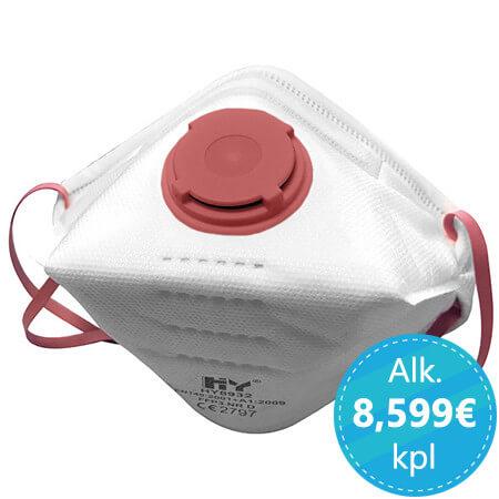 ffp3-tason hengityssuojain ventiilillä