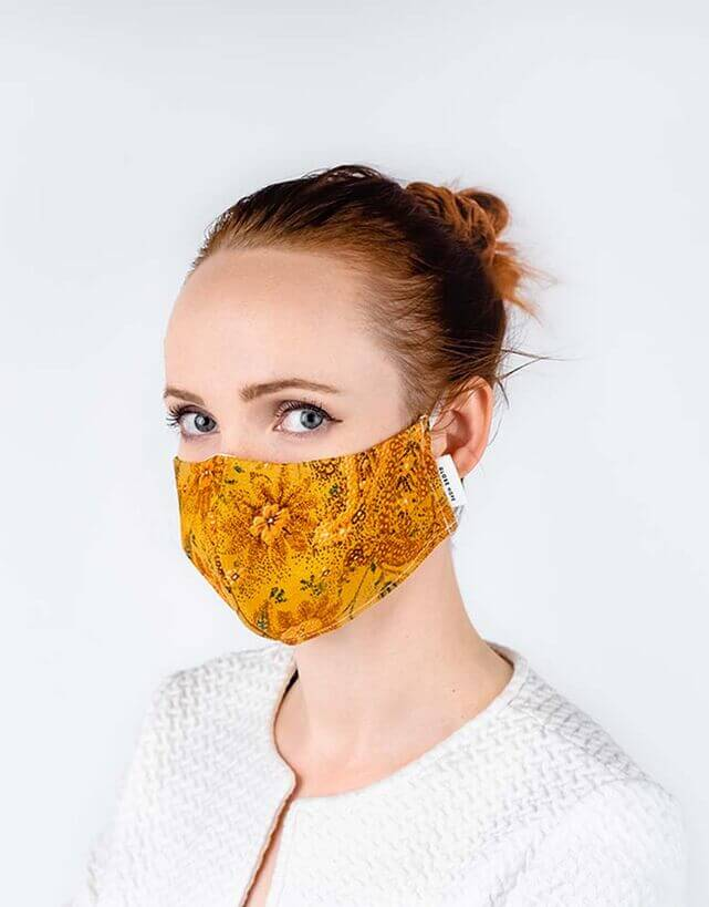 globe hope kuitukangas maski keltainen