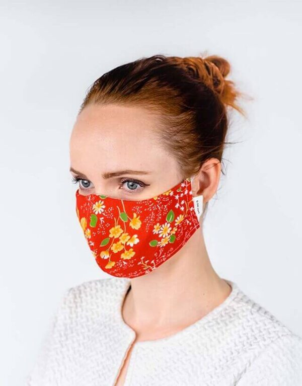 globe hope kuitukangas maski punainen