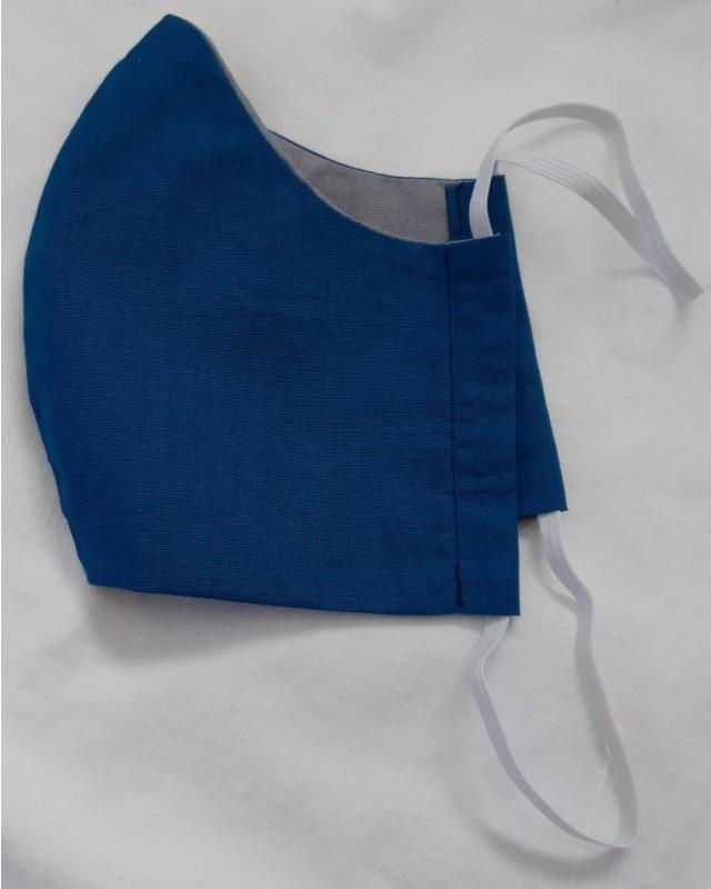 sininen käsintehty hengityssuojain sivuprofiili