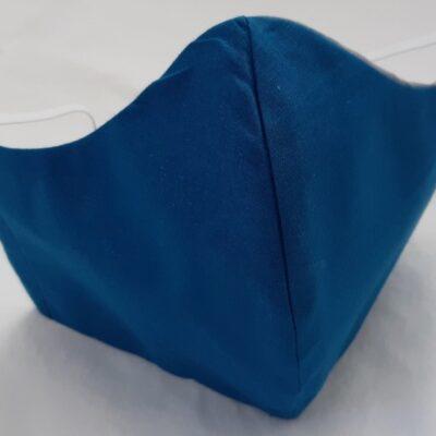 käsintehty sininen kankainen hengityssuojain