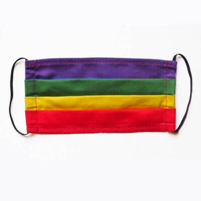 sateenkaariväritetty gay pride kasvomaski