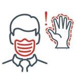 vältä koskemasta tai hieromasta kasvojasi suojaamattomilla käsillä
