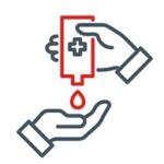 desinfioi kädet aina esimerkiksi sairaalakäynnin yhteydessä