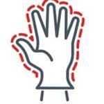 suojakäsineet on hyvä käyttää esimerkiksi ovenkahvaan ja muihin yleisesti koskettaviin pintoihin koskettaessa