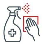 puhdista kotisi pinnat säännöllisesti desinfiointiaineella